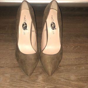 Rue 21 etc! Tan/Beige Heels (Sz XL/10)